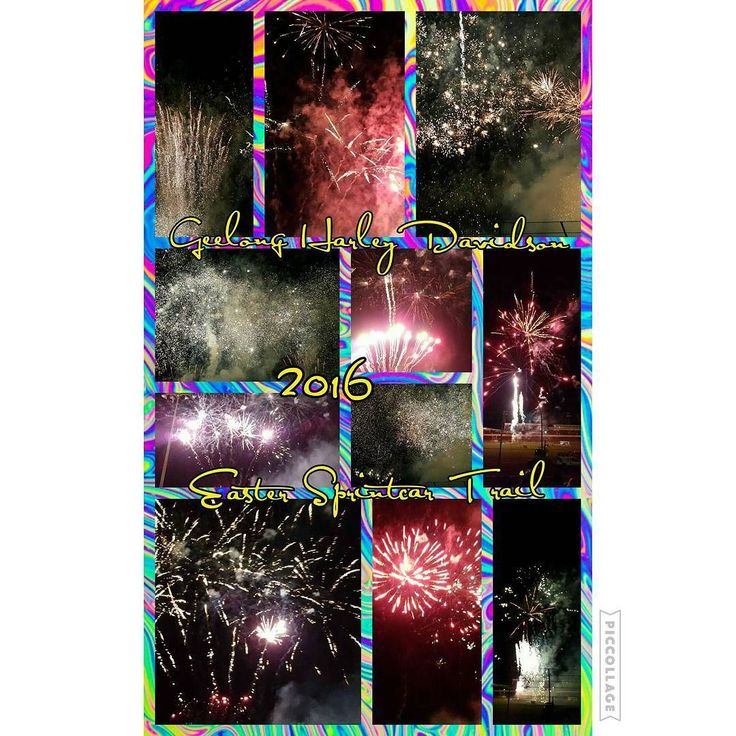 One of the best fireworks displays I've ever seen was totally wicked!! #fireworks #pyrotechnics #warrnambool #premierspeedway #allansford #geelongharleydavidson #eastersprintcartrail #amazing #breathtaking #welldonevealy #teamvealforlife by eeasha1991