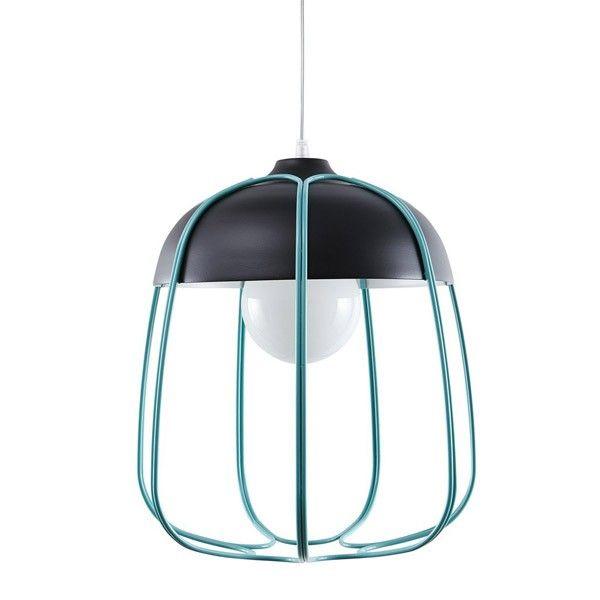 Lámpara de techo Tull (Color: Antracita/Turquesa)