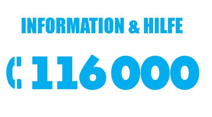 Die europaweit einheitliche 116000 Hotline für vermisste Kinder ist jederzeit (24/7)  kostenfrei aus ganz Deutschland, sowohl vom Fest- als auch vom Mobilfunknetz zu erreichen.