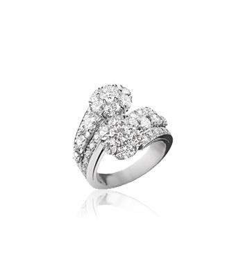 Snowflake 2-flower ring