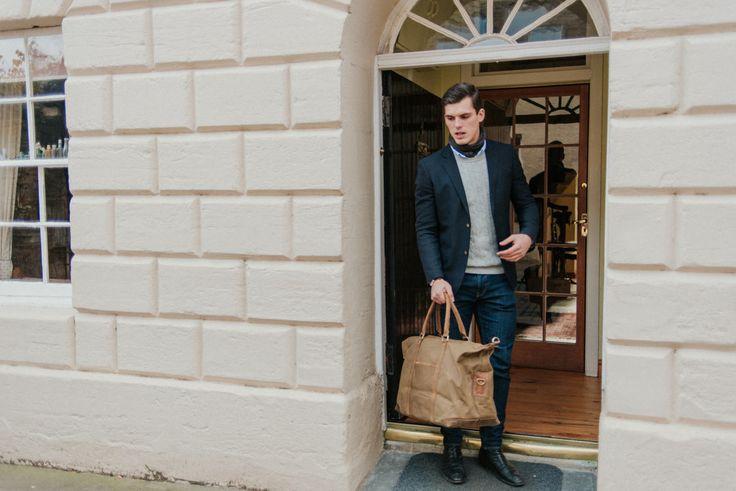 Canvas & Leather Holdall Scaramanga new leather bag collection at scaramangashop.co.uk photos by @photosbyzoe