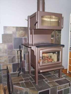 Homemade wood cook stove