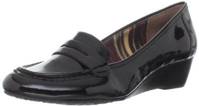 """AK Anne Klein Women's Supper Wedge Slip-on Anne Klein. $19.35. Flexible sole. Manmade sole. Synthentic. Heel measures approximately 1.5"""""""