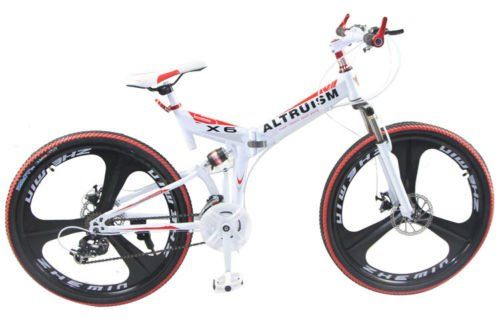 Hot Sales Altruism Xirui X6 Steel Mountain Bike 24 Speed 26 Inch Folding Bicycle White >>> For more information, visit image link.