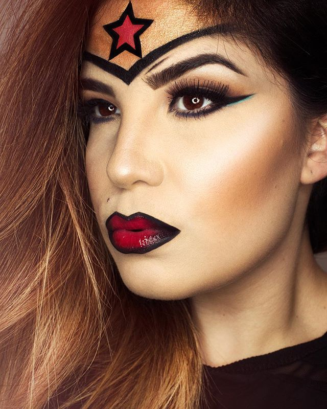 maquillage halloween wonder woman