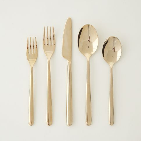 rose gold flatware // @West elm. Perfect for festive holiday table! Shall I????