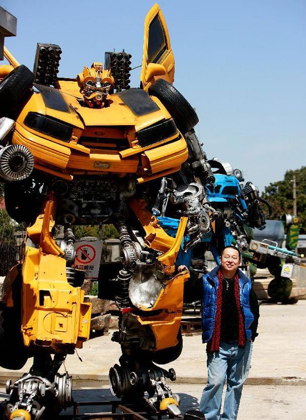 Much more than an action figure. Mr.Iron Robot sculpture park by Chinese artists Zhu Kefeng. Made using scrap metal (mostly cars).