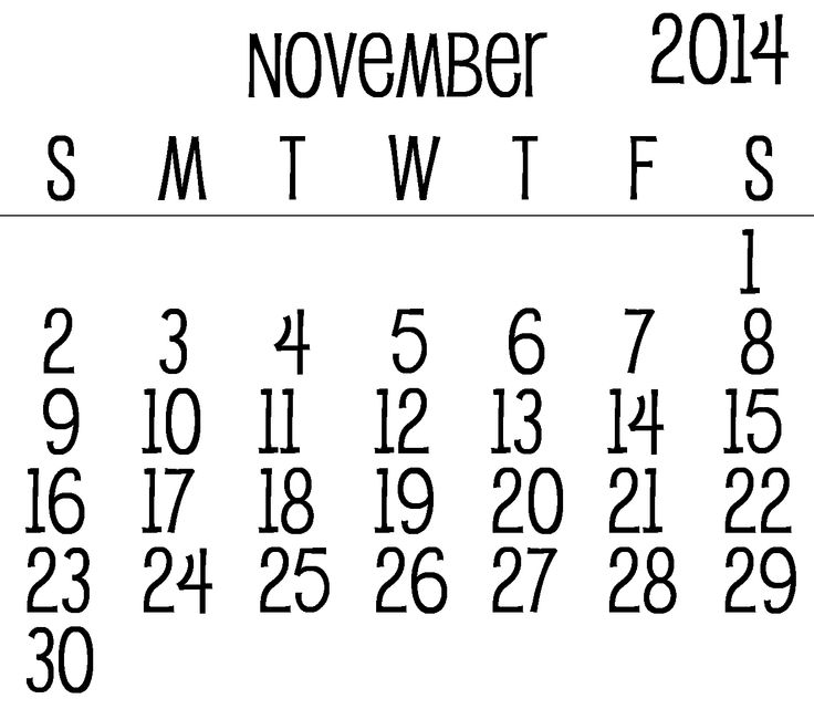 30 Best November 2014 Calendar Images On Pinterest Printable