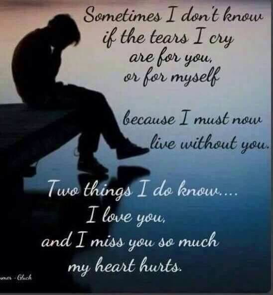 I will always love you and miss you, now that you are moving on and finding love and happiness, I miss you so much I love you