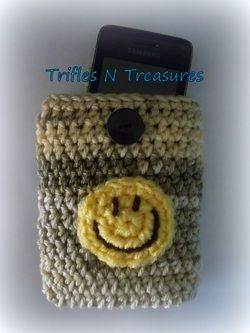 Free Crochet Pattern Happy Cell Phone Pouch