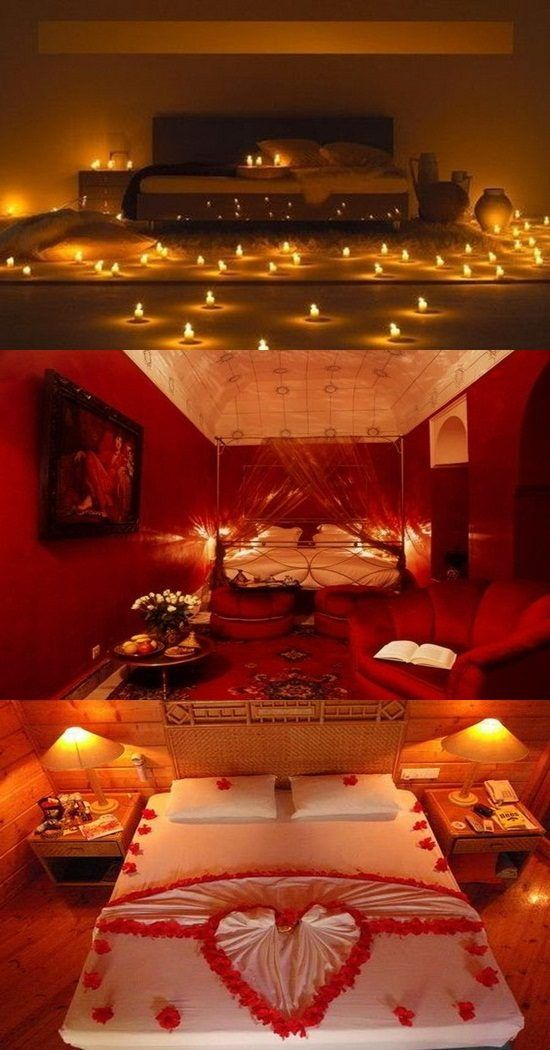 Romantic Valentine's Day Bedroom Decorations - For more go to >>>> http: