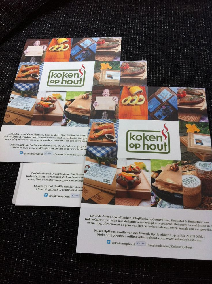 De folder van KokenOpHout 2013