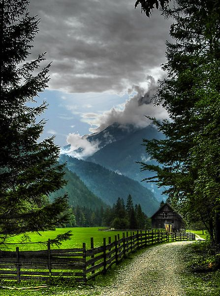 Barn By The Mountains