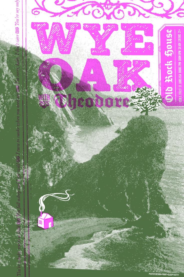 Sleepy Kitty poster for Wye Oak at ORH.