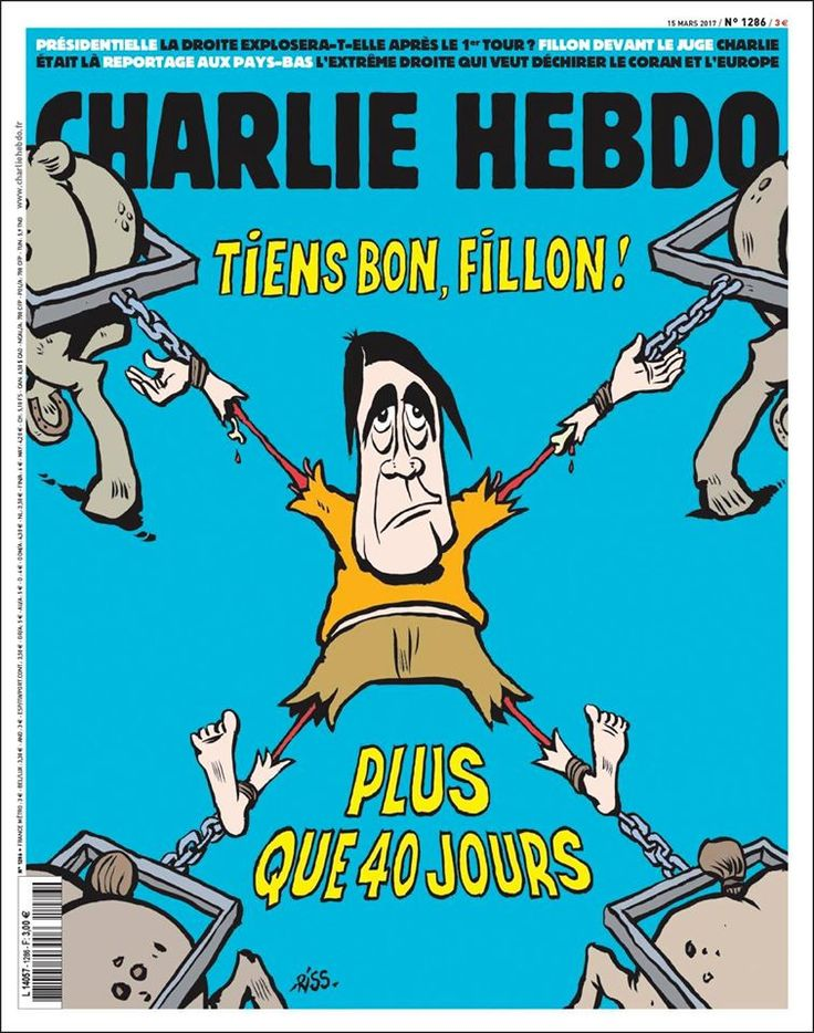 Charlie Hebdo - # 1286 - Mercredi 15 Mars 2017 - Couverture : Riss