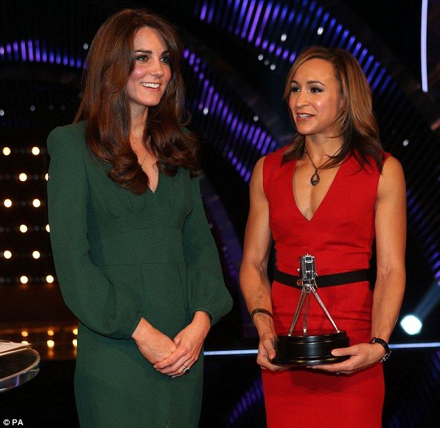The Duchess of Cambridge smiles as she stands alongside runner-up Jessica Ennis. December 16, 2012