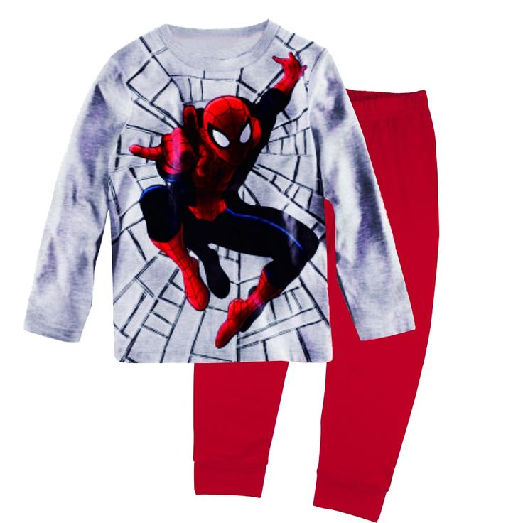 >> Click to Buy << Grey Spiderman Boys Pajamas Suits Kids Pijamas Long Sleeve Spider Man Children Sport Suits Infant pyjama Clothing Set 2 to 7year #Affiliate
