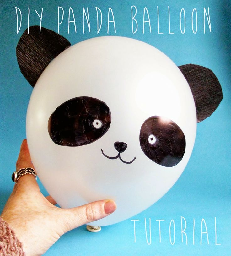 Sharpie Panda Balloon Tutorial by The DIY Fox - tons of cool Sharpie crafts!