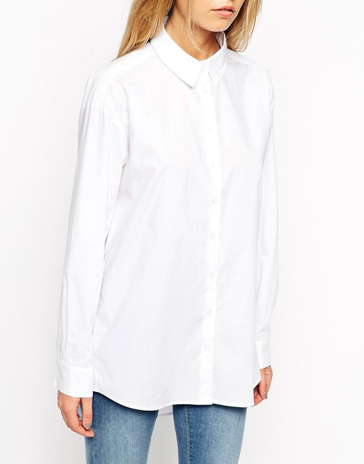 Image 3 of ASOS Smart Boyfriend White Shirt