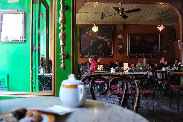 Cafe Reggio for cappuccinos and pan inis, Greenwich Village, New York City