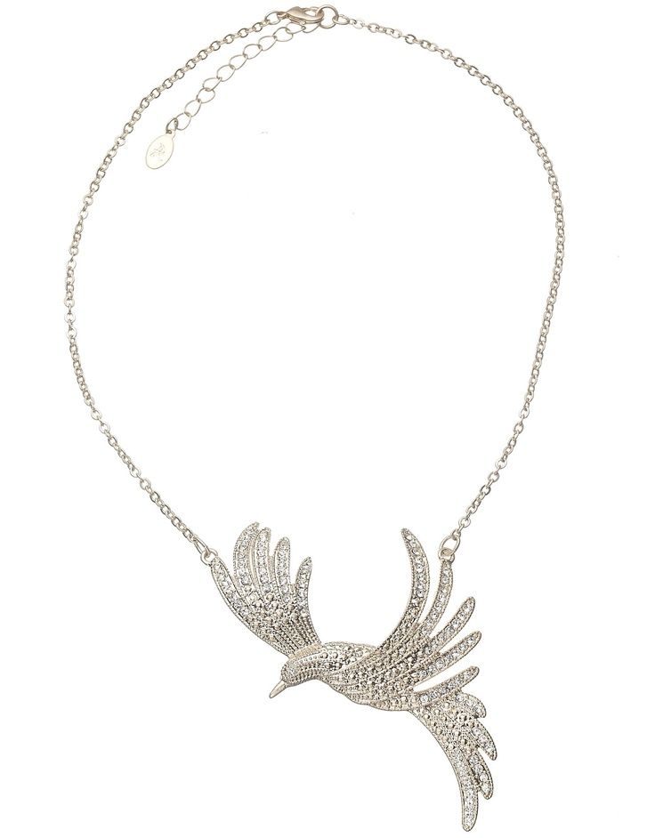 Pave Bird of Paradise Collar Necklace  €15.90