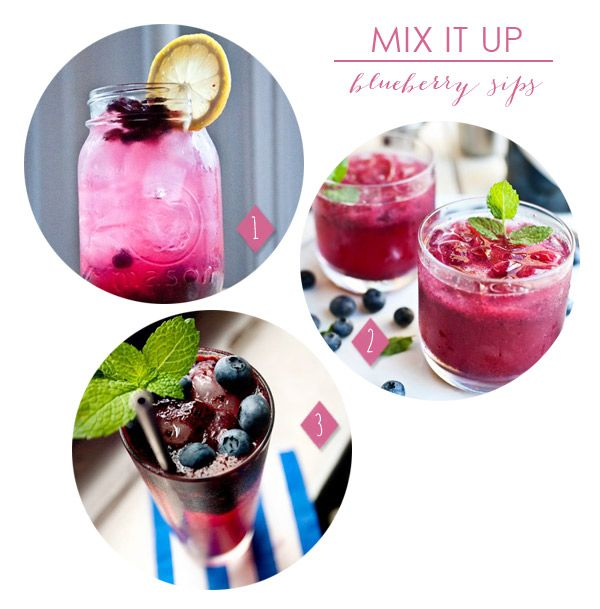 Summery Blueberry Cocktails