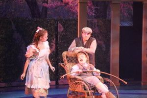"From left, Samantha Crawford as Mary, Judah Woomert as Colin and Cole Kornell as Dickon in ""The Secret Garden"" at the Manatee Players. JANET POELSMA PHOTO/MANATEE PLAYERS"