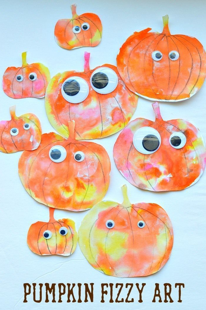 Fall art activities for kids : Art and science together to create these happy pu…