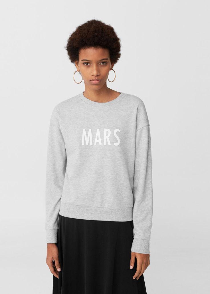 Sweat-shirt coton imprimé | MANGO
