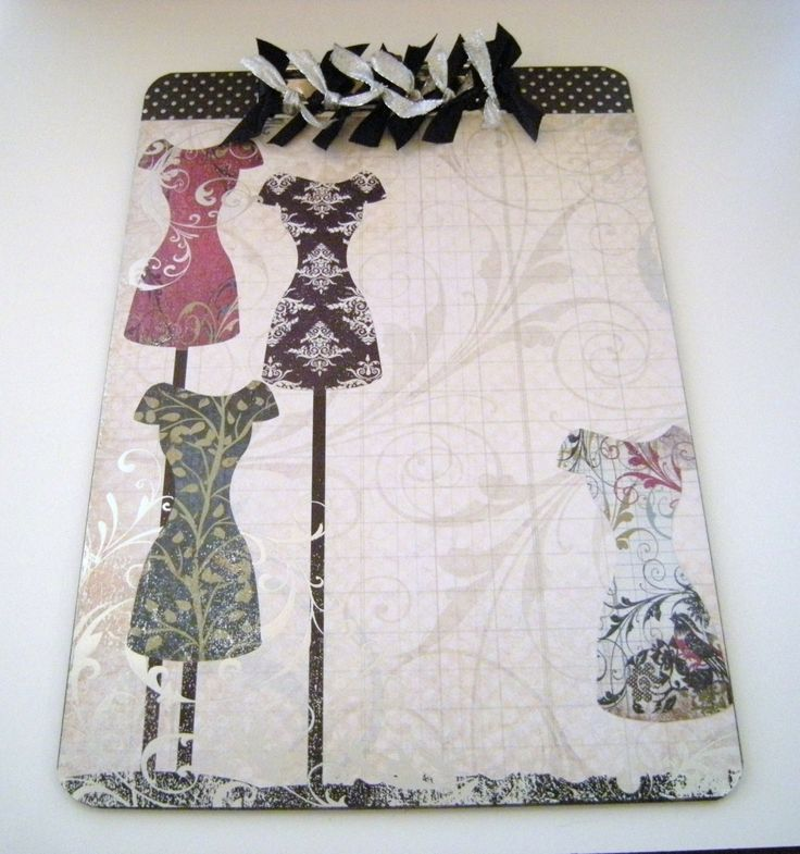 decorative clipboards | Altered Decorative Clipboard Couture OOAK by GooseyGirlDesigns