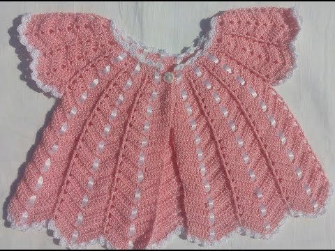 Chambrita tejida a gancho o crochet para bebe - YouTube