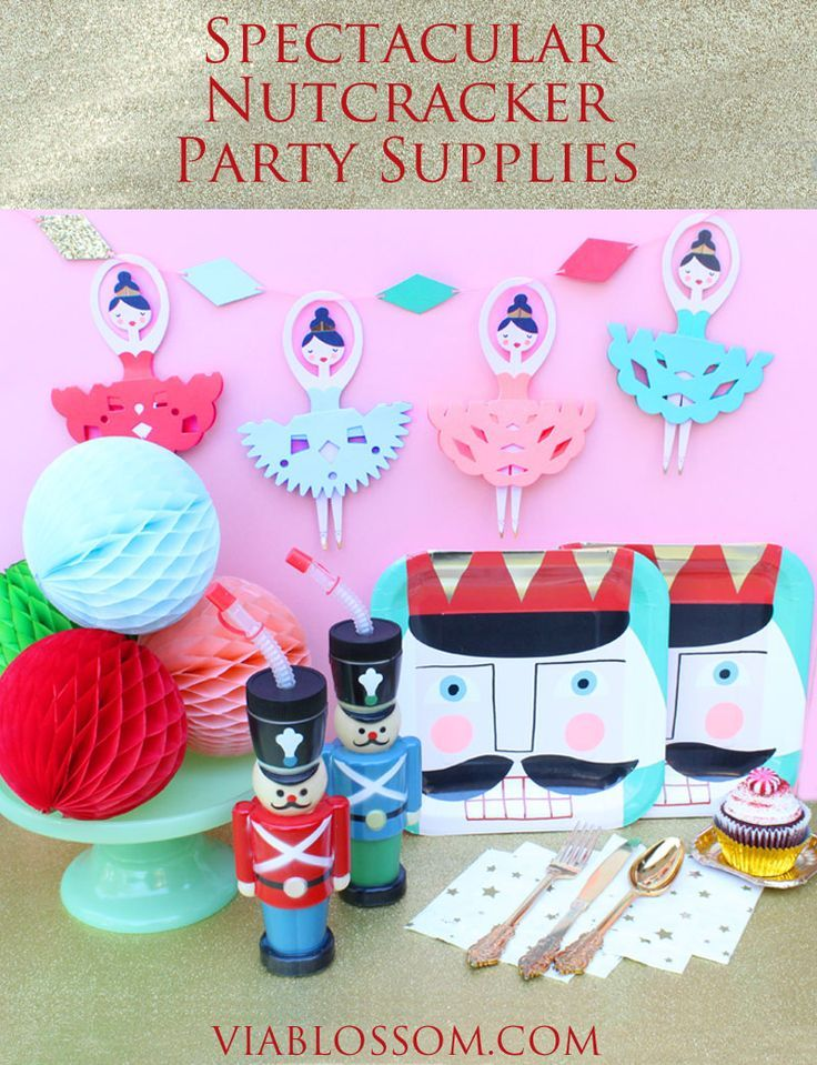 The most magical Nutcracker Party Supplies for a gorgeous Sugar Plum Fairy Party!!! All available at http://viablossom.com