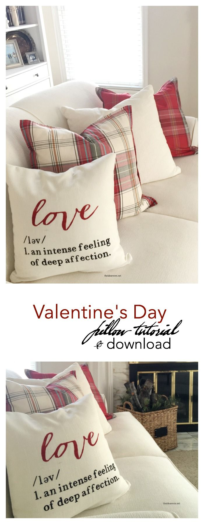 White apron poundland - Valentine S Day Learn How To Make This 16 Inch Diy Valentine S Day Pillow With This