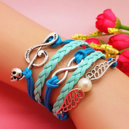 "New Stylish Handmade Bracelet 7.5"" with 2"" extender! Free Shipping! - $10"