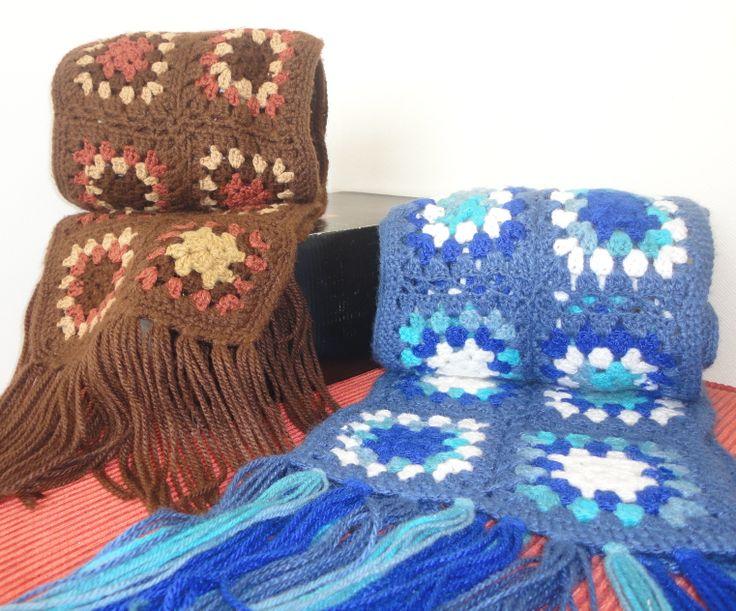 Bufanda crochet patchwork $6.000