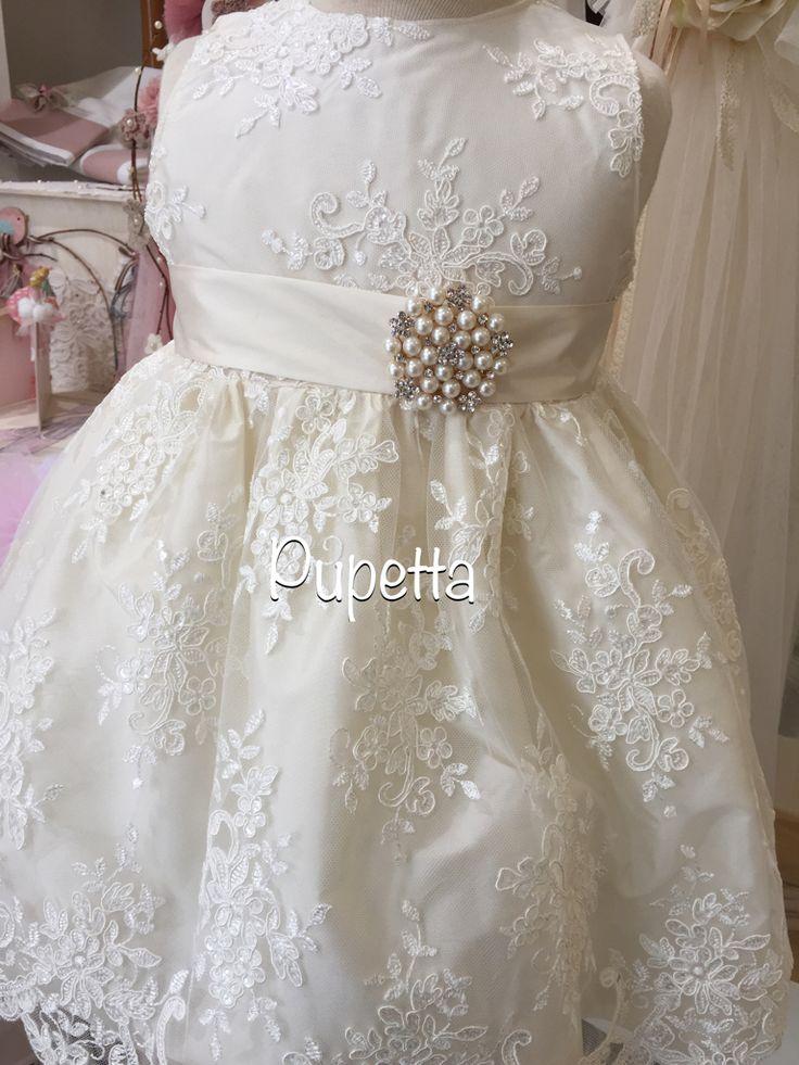 Βαπτιστικό φόρεμα Pupetta όλο δανδέλα! www.nikolas-ker.gr