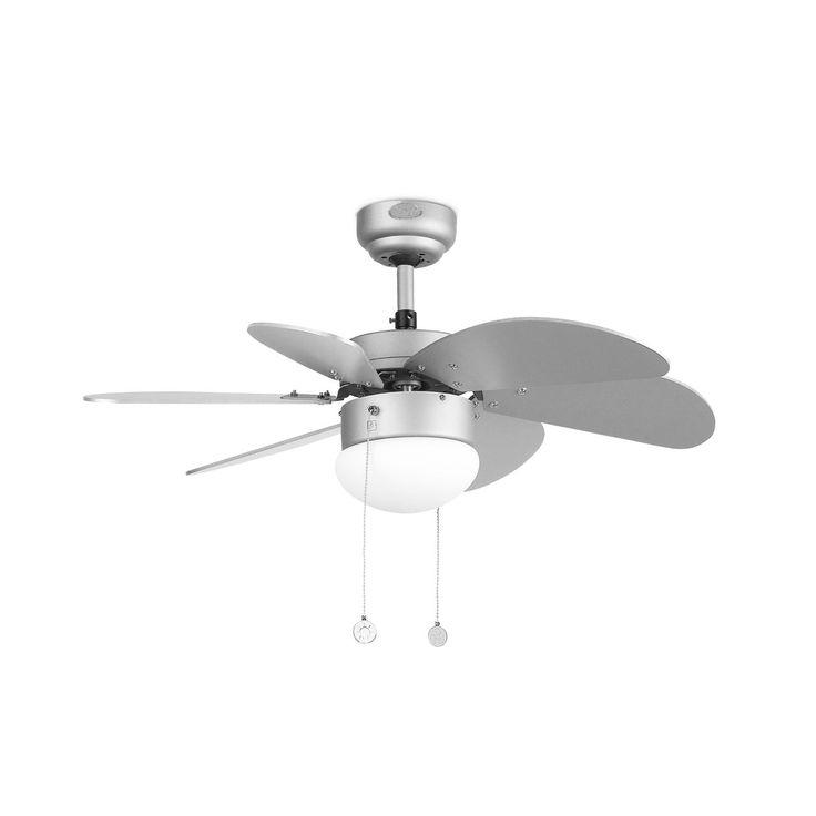 Ventilador de techo pequeño color gris #ventiladores #decoracion #verano #climatizacion #calor #ventilacion #diseño #aire
