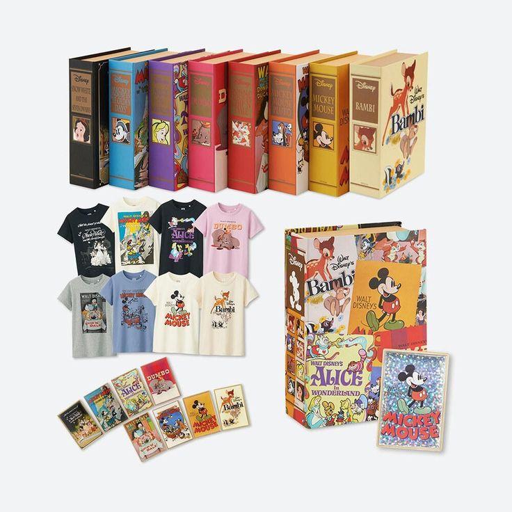【ユニクロオンラインストア|WOMEN UT】ディズニー ポスターアートコレクション グラフィックTシャツ ピンズ付きの特集ページです。 ディズニーアニメーションのポスターアートが表紙を飾る本型ボックスとピンバッチがセットになったTシャツコレクション。「ミッキーマウス」「バンビ」「チップとデール」など、人気のポスターアートを用い、大人も楽しめるデザインに仕上げています。
