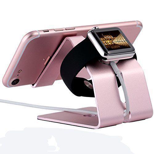Aluminium Charger Stand Holder Charging Dock For Apple Watch iPhone 38 42mm Pink #ChargerStandHolderChargingDock