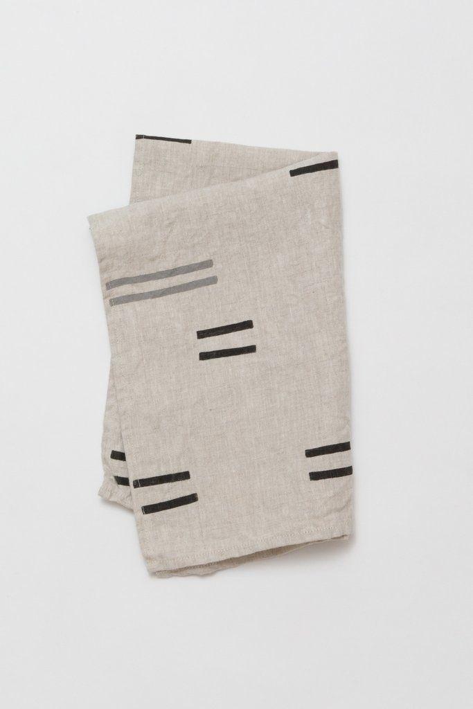 Oaxaca Grey Tea Towel