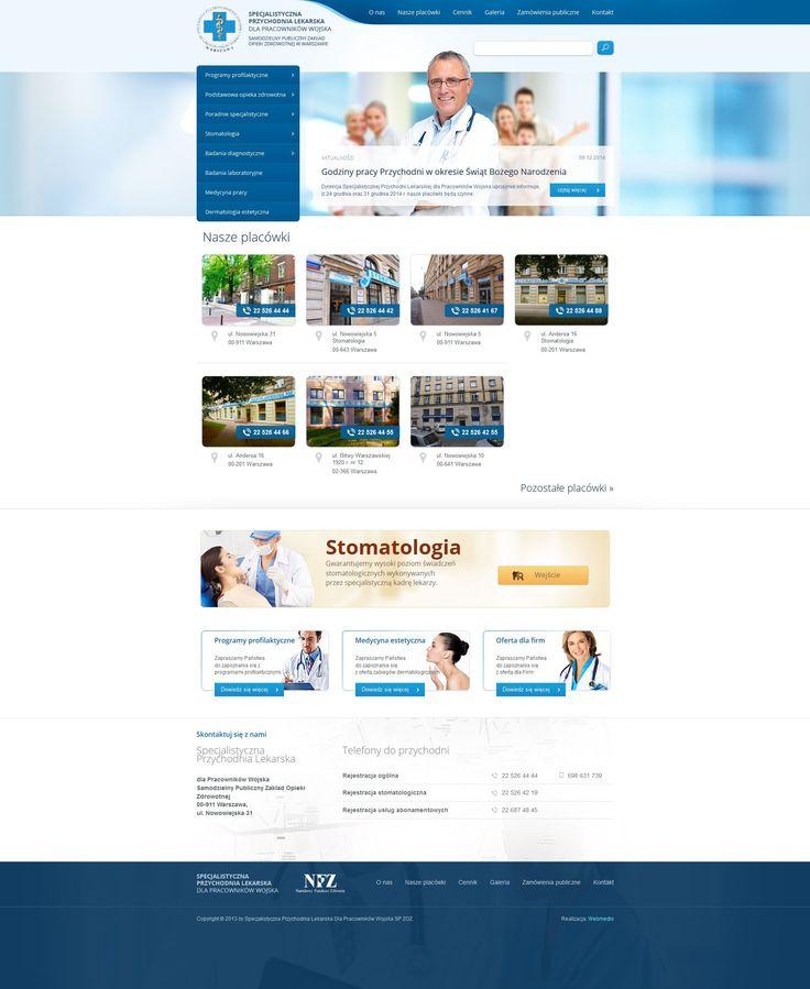 Projekt strony internetowej dla kliniki SPL.  #health_website #resposive_health #responsive_medicine   http://www.webmedio.pl/