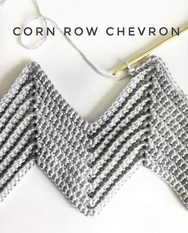 Learn how to do the beautiful corn row chevron stitch with this great tutorial! The chevron stitch is wonderful twist on the classic crochet look.