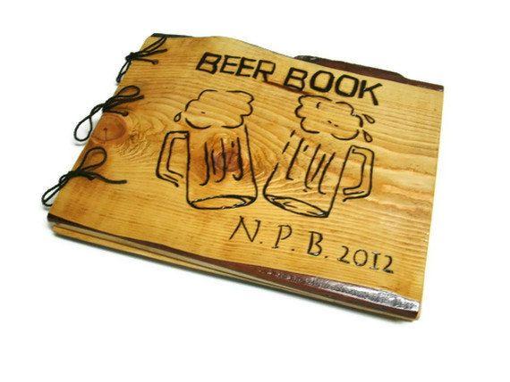 Personalized Brew Book  Beer Logs Notebook by BillsWoodenPleasures, $35.00