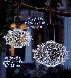 Pretty White Solar Christmas Ball Lanterns Look Pristine