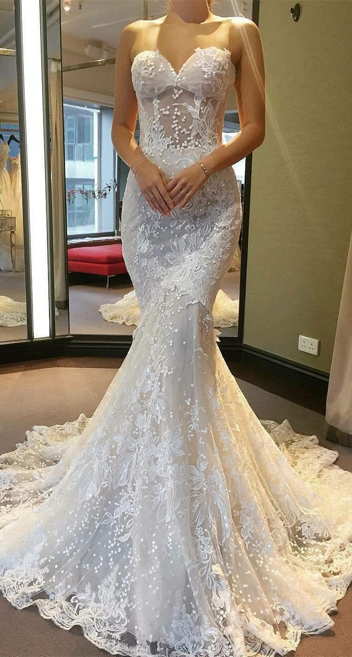 057c3635f5 Gorgeous Sweetheart 2019 Wedding Dress
