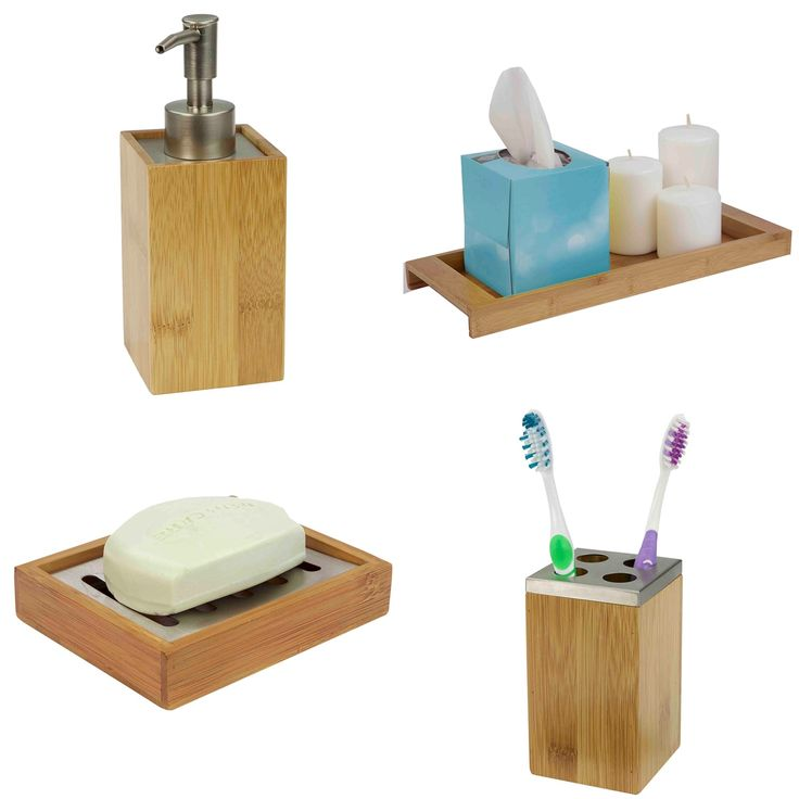 bamboo bathroom accessories | bamboo bathroom accessories, pink bathroom accessories, bamboo