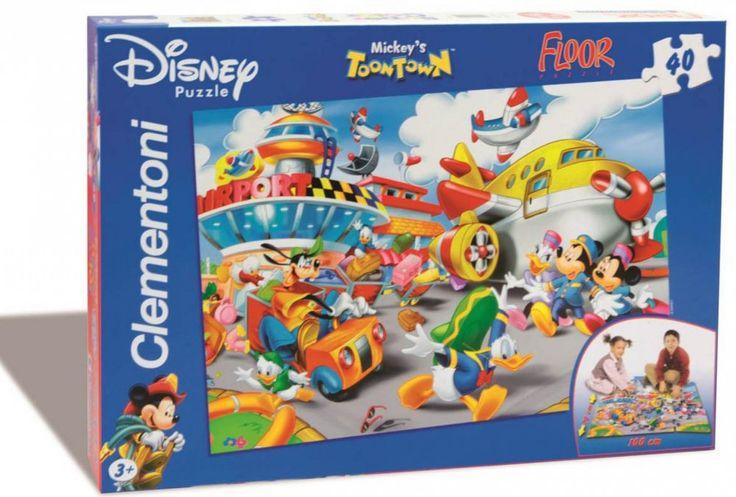Clementoni   Podlahové puzzle 25410 Mickeyho město    MALL.CZ