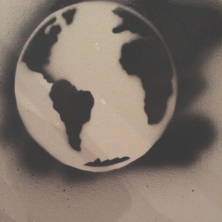 World stencil  #stencil