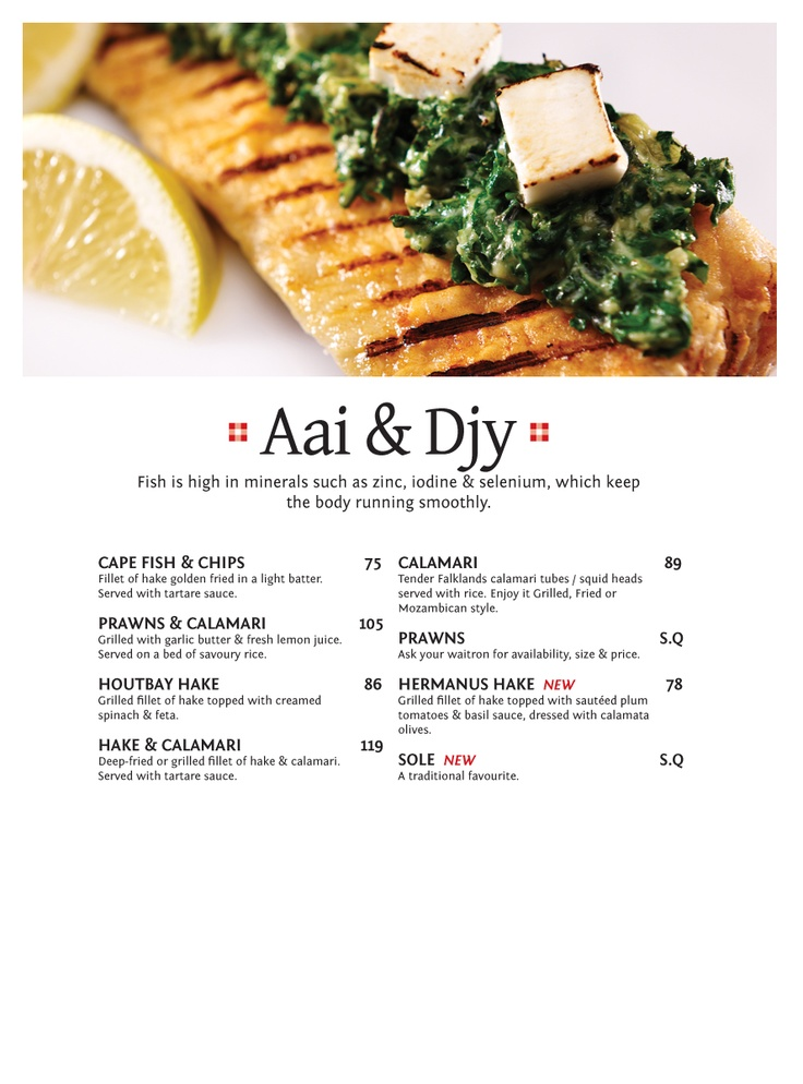 Aai & Djy Fish is high in minerals such as zinc, iodine & selenium, which keep the body running smoothly