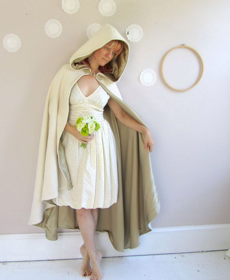 Long Hooded Cloak half circle style, graduated hemline by lorigami on Etsy https://www.etsy.com/listing/129488273/long-hooded-cloak-half-circle-style